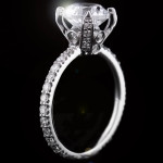 Custom Accented Prong Engagement Ring