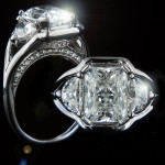 Custom Three Stone Split Shank Engagement Ring