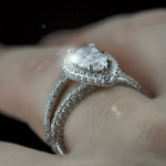 Custom Triple Sided Split Shank Engagement Ring