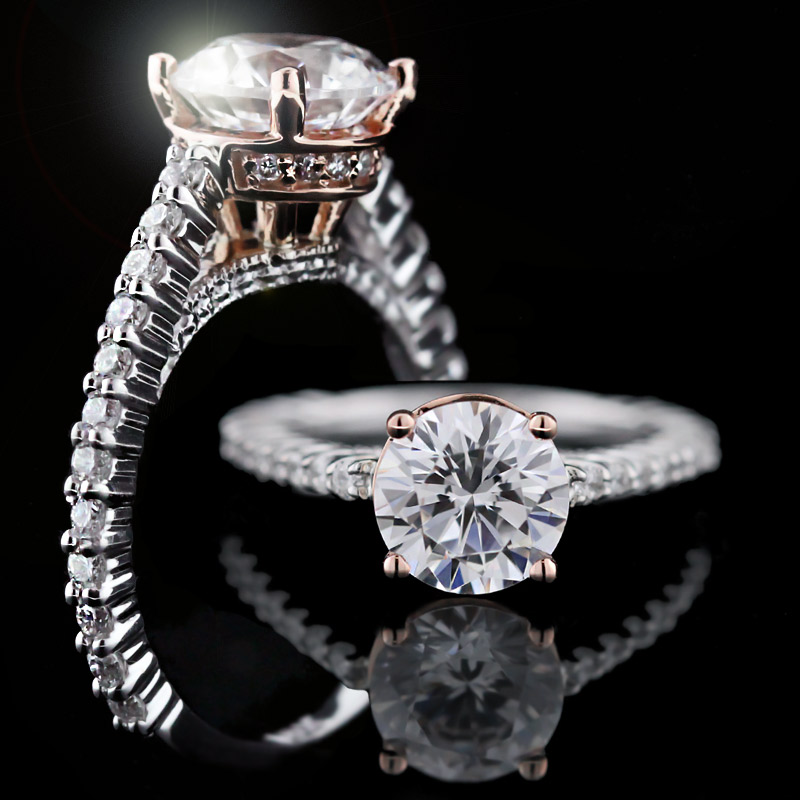 Custom design your own Man Made Diamond Engagement Ring