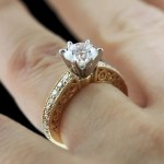 Ali Antique Engagement Ring in Yellow Gold