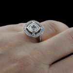 Custom Double Halo Engagement ring by MiaDonna