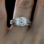 Kaden Engagement Ring modified with Radiant cut Diamond Hybrid