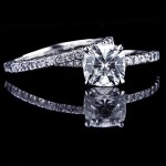 Marily Wedding Set with Cushion cut Diamond Hybrid