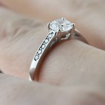 Tigerlilly Engagement Ring with Round Man Made Diamond