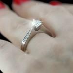 White Princess cut Gemesis Diamond