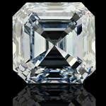 Asscher cut Lab Created Blue Diamond