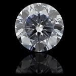 Round cut Lab Created Blue Diamond