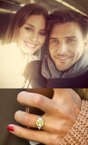 Image of Olivia Palmero and Husband with Engagement Ring