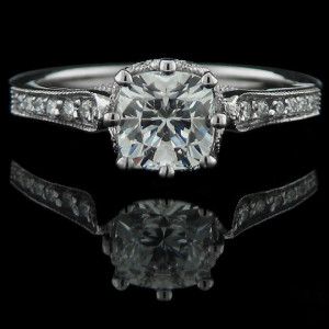 Crown Vintage Engagement Ring