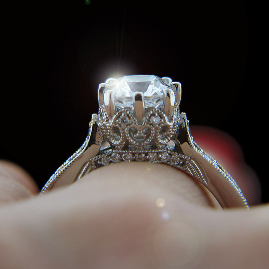 live like royalty with the crown vintage engagement ring