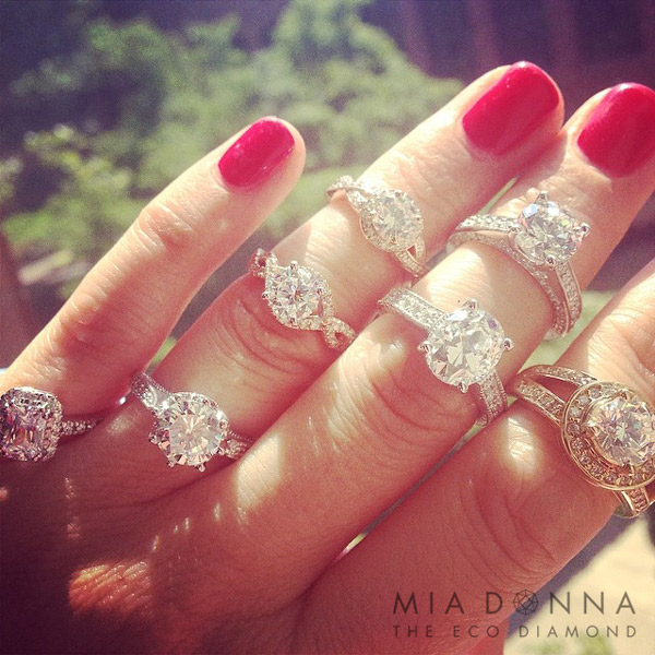 Stacked Engagement Rings | MiaDonna.com