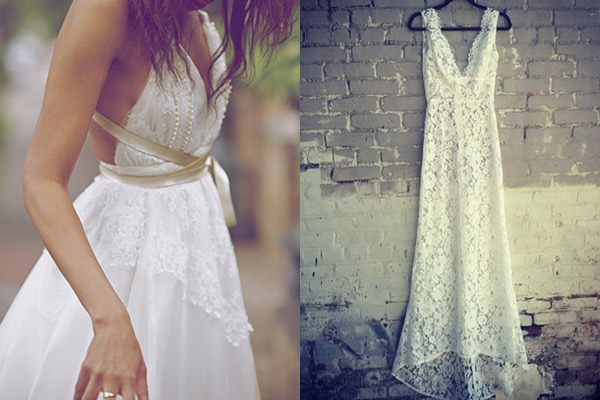 Eco Friendly Wedding | Reworked Vintage Wedding Dress | photo credit Pinterest