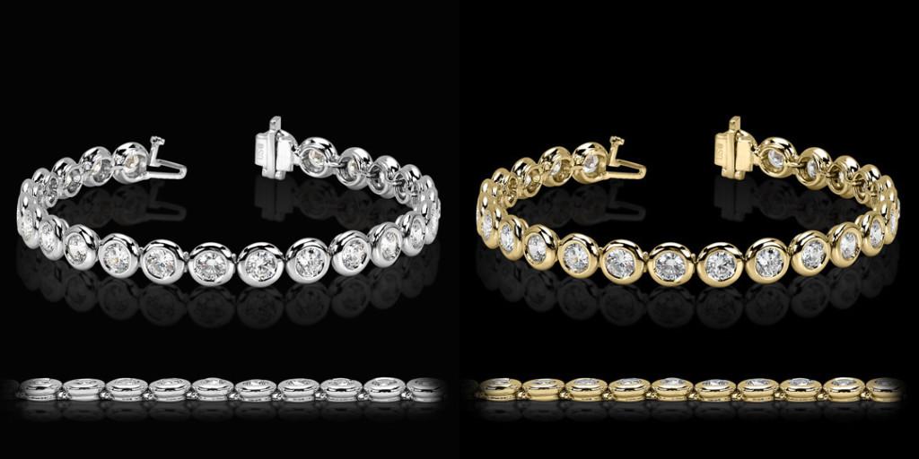 Full Bezel Tennis Bracelet | MiaDonna