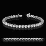 MiaDonna Tennis Bracelet | 3 Prong | White Gold