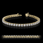 MiaDonna Tennis Bracelet | 4 Prong | Yellow Gold