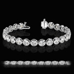MiaDonna Tennis Bracelet | Bezel Set | White Gold