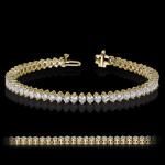 MiaDonna Tennis Bracelet | Kite Set | Yellow Gold