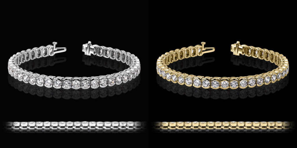 Semi Bezel Tennis Bracelet | MiaDonna