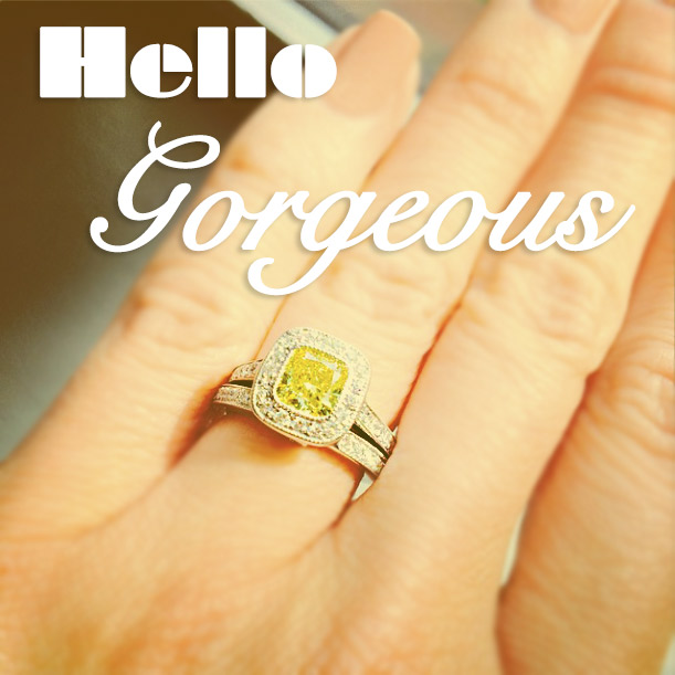 Luxury Wedding Set by MiaDonna | Yellow Man Made Diamond | Hello Gorgeous