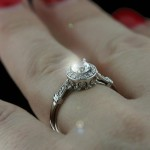 Custom Designed Engagement Ring | Round cut | MiaDonna