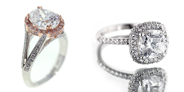 Halo Engagement Rings by MiaDonna