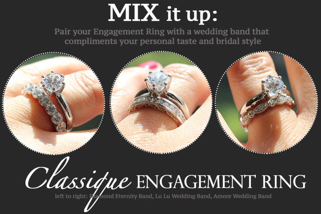 Mix or Match Wedding Bands | Mix it up | Classique Engagement Ring