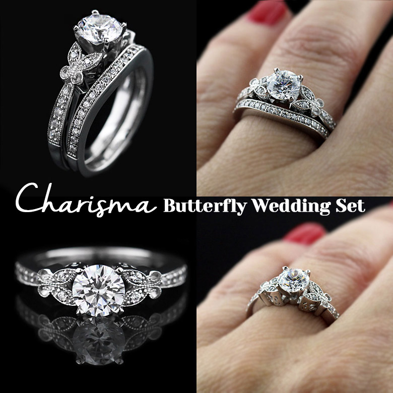 Charisma Diamond Butterfly Engagement Ring | MiaDonna New Arrivals