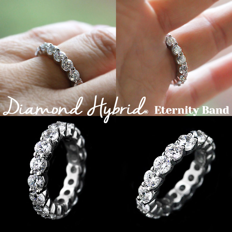 MiaDonna Diamond Hybrid Eternity Band | MiaDonna New Arrivals