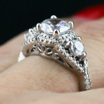 MiaDonna New Arrivals | Aurora Three Stone Engagement Ring