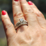 MiaDonna New Arrivals | Marvelous Pave Diamond Wedding Set