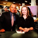 Meet Linley: Behind the MiaDonna Scenes | Linley at book signing with Daymond John of Sharktank