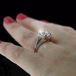 Friday Favorite | Kat Antique Engagement Ring | TwoTone White & Rose Gold