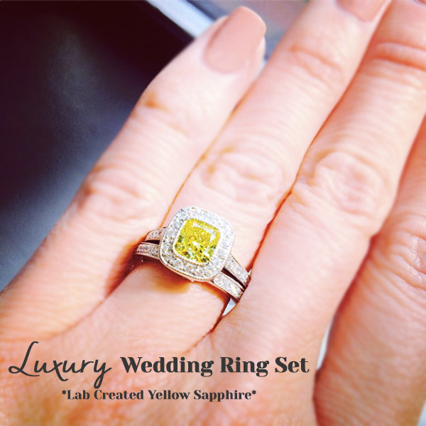 Luxury Wedding Ring Set | We LOVE Gemstone Engagement Rings