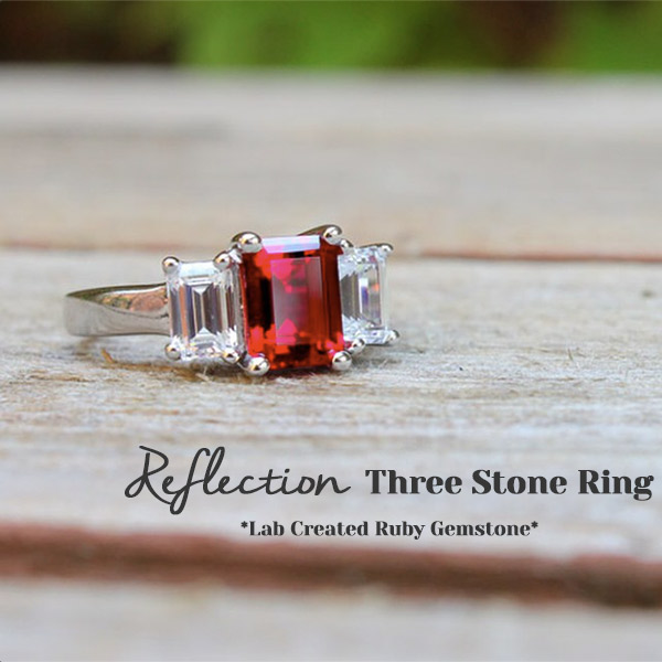 Reflection Three Stone Ring | We LOVE Gemstone Engagement Rings