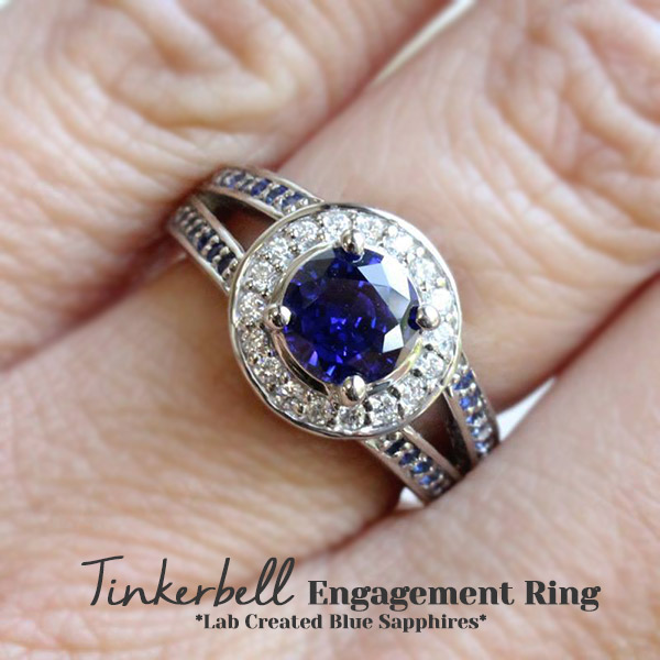 Tinkerbell Engagement Ring | We LOVE Gemstone Engagement Rings