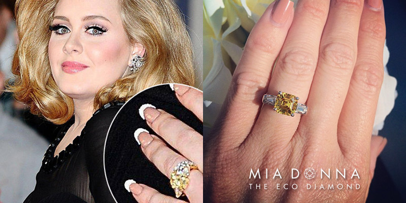 Adele | Unique Celebrity Three Stone Engagement Rings