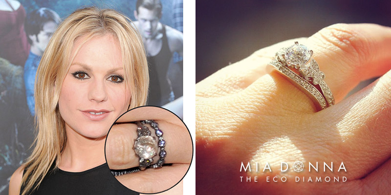 Anna Paquin | Unique Celebrity Three Stone Engagement Rings
