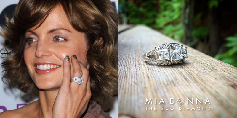 Mena Suvari |  Unique Celebrity Three Stone Engagement Rings