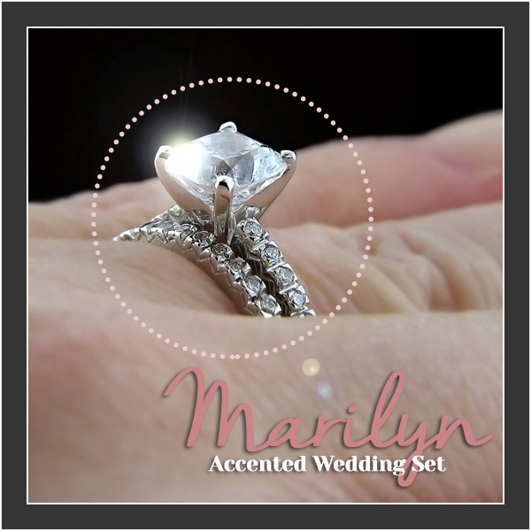 MiaDonna FRIDAY FAVORITE | Andrew's Pick | Marilyn Accented Wedding Set
