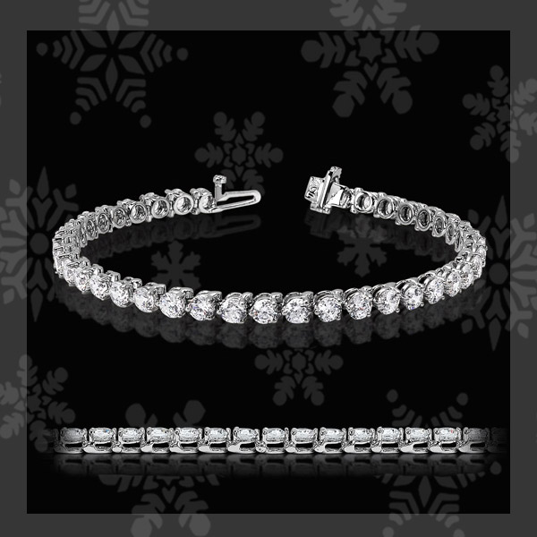 MiaDonna's TOP 5 Holiday Gift Guide | 3 Prong Diamond Hybrid Tennis Bracelet