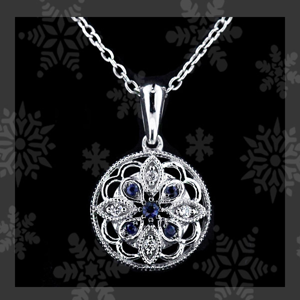 MiaDonna's TOP 5 Holiday Gift Guide | Antique Diamond and Sapphire Circle Pendant