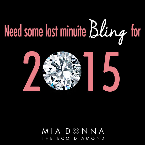 2015 New Year's Eve Proposal | Last Minute Bling | Engagement Rings | Man Made Diamonds
