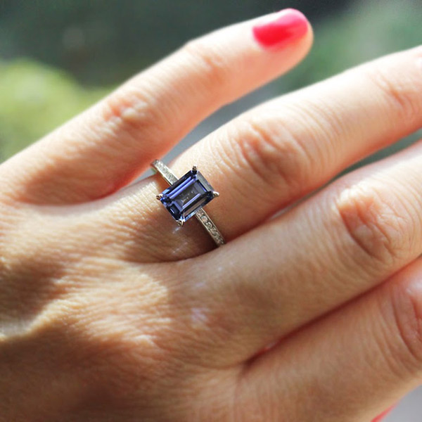 New Year Proposal | Ready to Ship | Drew Engagement RIng | Blue Sapphire