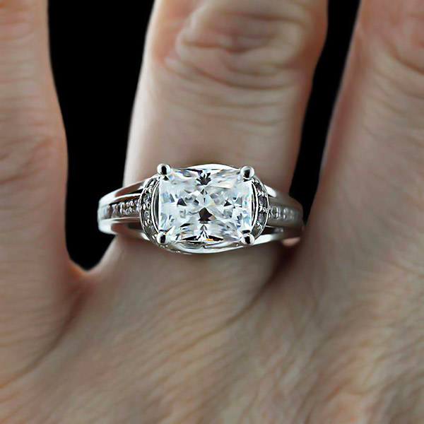 New Year Proposal | Ready to Ship | Kaden Engagement Ring | Radiant center stone