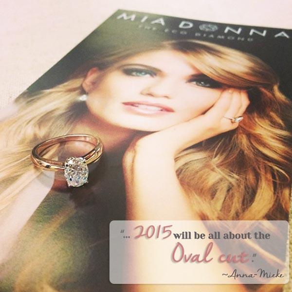 MiaDonna CEO's Top 5 Engagement Ring Trends for 2015 | Oval cut Diamond | Man Made Diamond | Diamond Hybrid | 2015 Trends