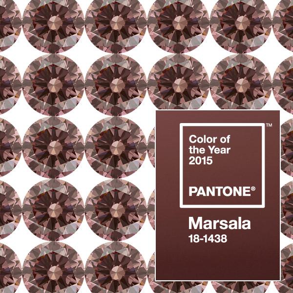Marsala Colored Man Made Diamonds |Pantone color of the year | Marsala diamond aotc grown