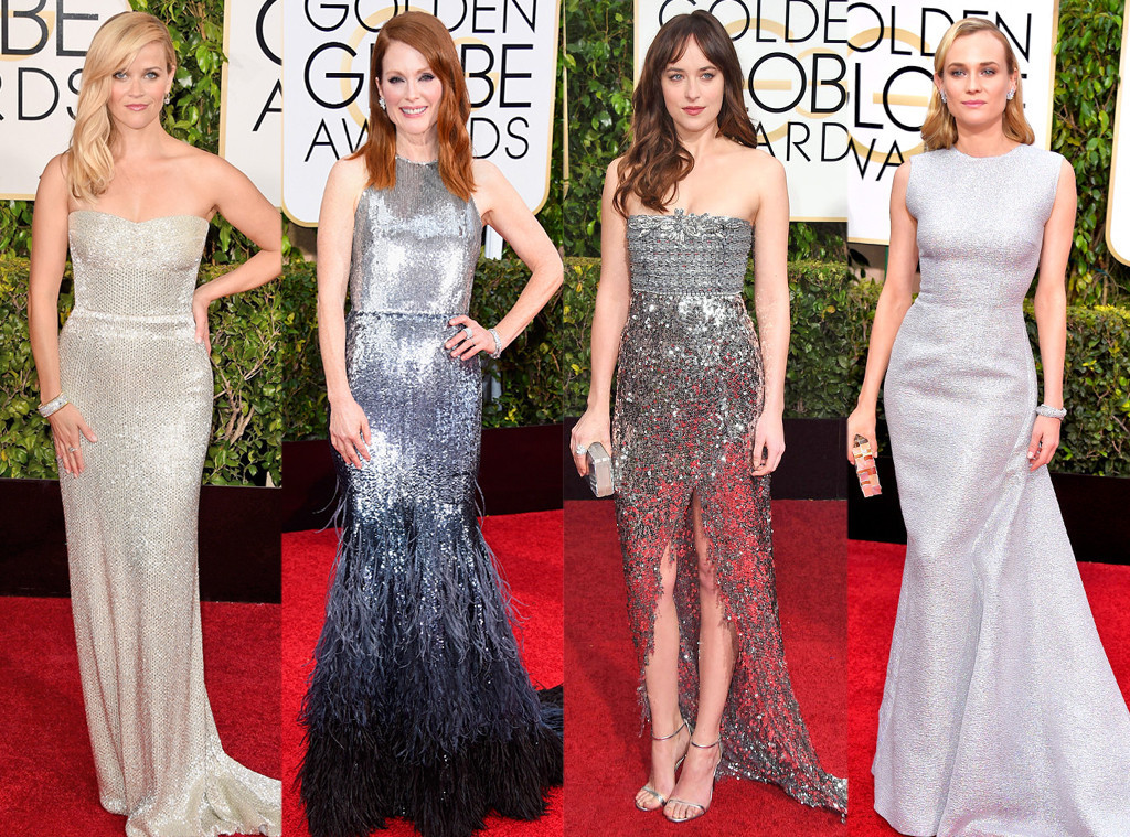 Golden Globes Top Fashion Trends | Metallics | Getty Images