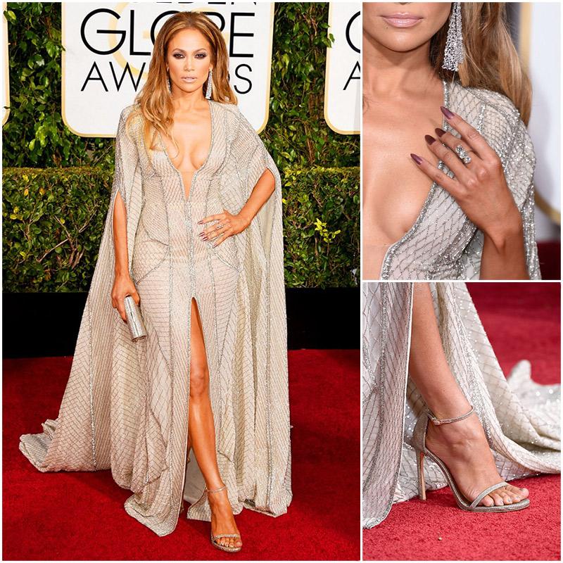 Golden Globes Top Fashion Trends | Metallics | Jennifer Lopez