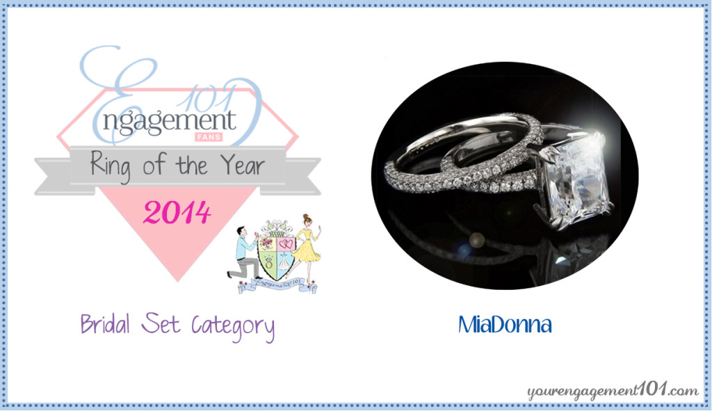 Engagement 101 Bridal Set of the Year | 2014 | Socialite Pavé Wedding Ring Set | MiaDonna